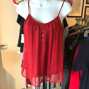 The Limited // Red Chiffon Cami